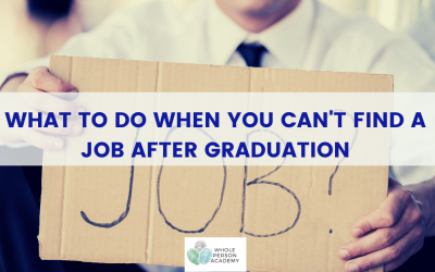 What to do when you can't find a job after graduation